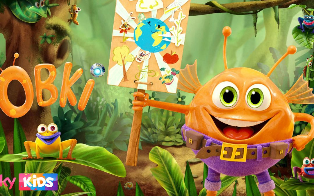 Obki the eco alien in the rainforest