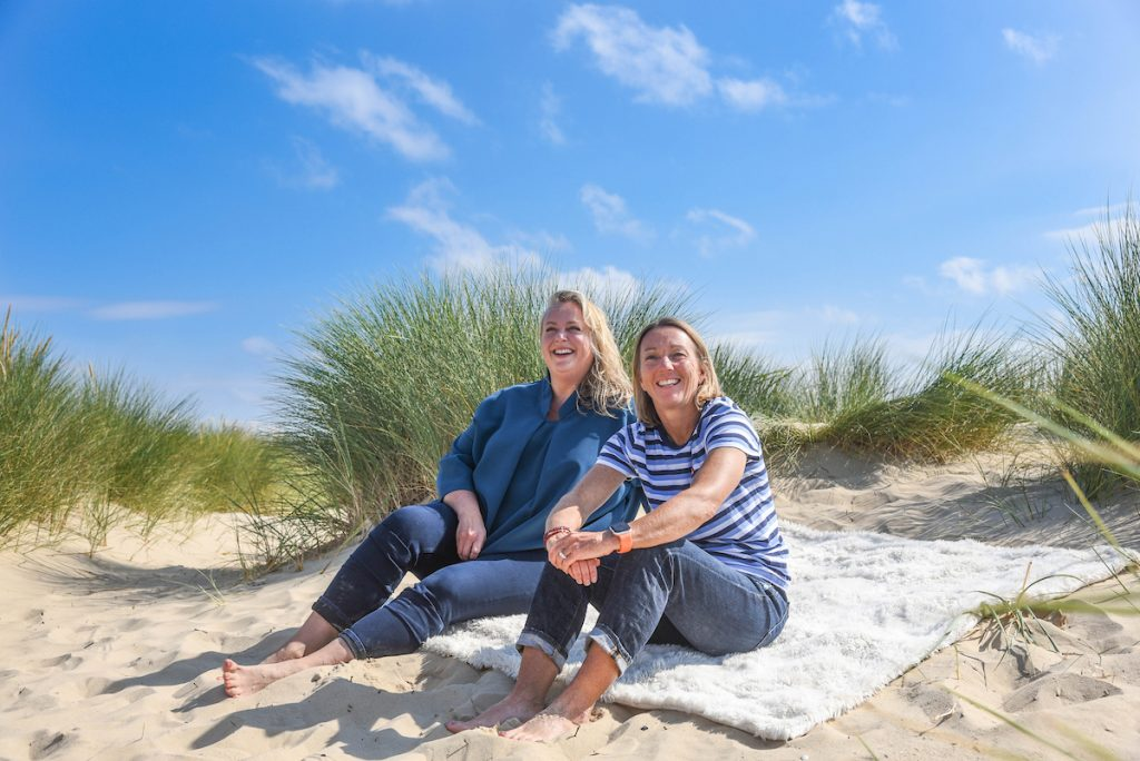 Amanda Evans & Emma Pemberton from Obki Productions on a Dorset Beach